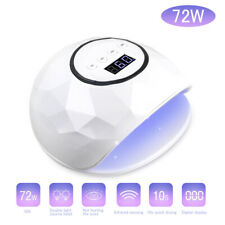 72W UV LED Nail Lamp Gel Polish Nail Dryer intelligent Sensor 10s/30s/60s/90s UK
