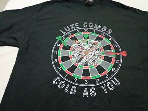 Luke Combs Cold As You RARE OFFICIAL PROMO ONLY T-SHIRT Size  LARGE