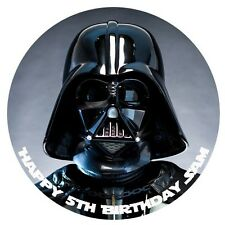 1 x Darth Vader Star Wars 19cm round personalised cake topper edible image