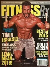 Fitness RX Solid Muscle Train Insane Collectors Edition Jan 2016 FREE SHIPPING!