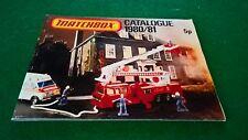 MATCHBOX COLLECTORS CATALOGUE 1980/81 UK  EDITION EXCELLENT CONDITION