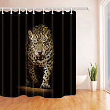 Cheetah walks out of darkness Shower Curtain Bathroom Fabric & 12hooks 71*71in
