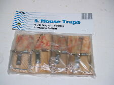 Lot of 4 Vintage Style Mouse Traps - New in Package