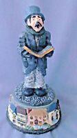 Christmas Dickens Caroler musical music box resin figurine silent night