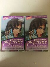 (2) Vintage L'OREAL Performance Permanant Creame-In ISABELLE'S Honey/Dawn 6HD P