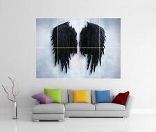 BANKSY BLACK ANGEL WINGS STREET GRAFFITI GIANT WALL ART PHOTO PRINT POSTER