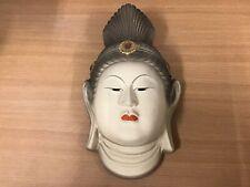 Y0725 Masque Bouddha Religion Faith Japonais Ancien Omen Vintage Hommes Japon