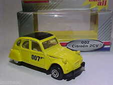 Citroen 2CV6 James Bond 007 For Your Eyes Only Edocar 1/64 Diecast Mint Box 1999