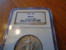 1939 Liberty Walking Half Dollar MS 63 (NGC)     Silver!!!