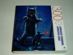Vincent Hie Cardinal Puzzle 300 Pieces Jurassic Purrrrk/Jurassic Chat NIB