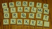 "Scrabble Folio Travel Game Plastic Mini 1/2"" Square Letter Tile Replacement Part"