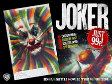 Joker 2019 Movie Tie-In, Exclusive A4 Poster, DC, Spot UV Varnish, Only 20 Left!