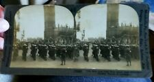 Early Keystone Wwi Yankee Troops In London Steroescope Card
