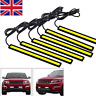 2x 12V LED STRIP DRL DAYTIME RUNNING LIGHTS FOG COB CAR LAMP WHITE DAY DRIVING