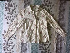 Womens Oh Baby Maternity Top Size Small Button Up Floral Blouse Long Sleeve