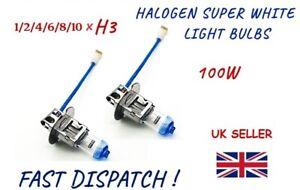 H3 FRONT HALOGEN SUPER WHITE EFFECT CAR LIGHT BULBS FOGLIGHT HEADLIGHT 100W LAMP