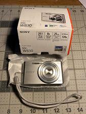 New Open Box Sony Cyber shot DSC W830 20.1 MP Silver Tested