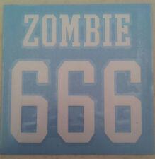 ROB ZOMBIE White Zombie 666 RUB-ON car window STICKER NEW OFFICIAL MERCH
