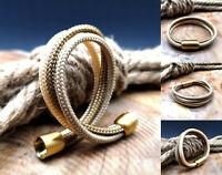 Segeltau Armband NEU Gold Braun Beige Handarbeit Damen Herren Magnetverschluß
