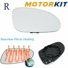 Heated Front Right Wing Door Mirror Glass For Passat GTI 06-09 Fit Jetta 06-14