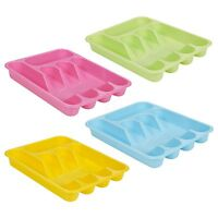 Five Compartment Cutlery Tray Plastic Kitchen Drawer Insert Organiser Holder