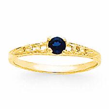14k Madi K 3mm Sapphire Birthstone Baby Ring Gk132