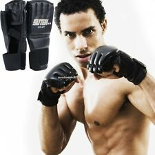 Men MMA UFC Sparring Grappling Fight Boxing Punch Ultimate Mitts Leather Gloves