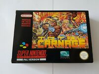 Total Carnage - Super Nintendo SNES Game [PAL UKV] CIB + Poster