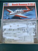 Revell Beech Bonanza in 1/48th scale Model Airplane Contents New Box Worn