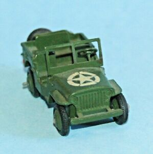 DINKY TOYS Meccano England original 1948 US Army JEEP #153a domed bonnet