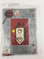 Something Special Counted Cross Stitch All Hearts Banner