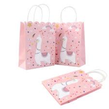 5× Paper Llama Party Bag Tote Gift Bags Birthday Llama Party Favor Bags Decor