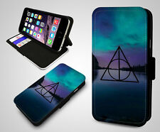 Harry Potter Always Logo Quote Pattern Nature Leather Wallet Phone Case Cover