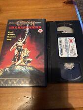 CONAN THE BARBARIAN COLLECTABLE VHS 15 1989 ARNOLD SCHWARZENEGGER