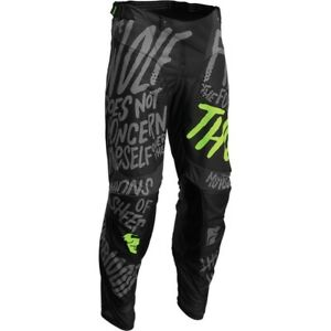 Thor Pulse Counting Sheep Gray/Acid Motocross MX Dirt Bike Riding Adult Sizes