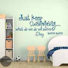 Just Keep Swimming Dory Quote Vinyl Wall Decal Sticker Finding Nemo Disney Pixar