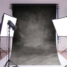 5x7FT Vinyl Retro Black Grey Wall Photography Background Backdrop Studio Props