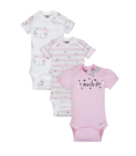 Baby Girl Lot of 3 Onesies So Much Love Bear Nwt Gerber Nb 0-3 3-9