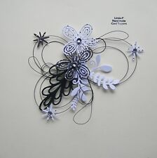 3D  WIRED  CARD CRAFT TOPPER , EMBELLISHMENT  GEN 51-03 BLACK/WHITE