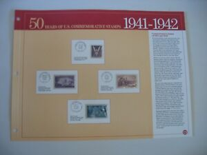 1941-1942 U.S. Postage Stamps 50 Years of US Commemorative Stamps