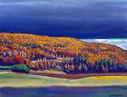Framed canvas art print giclee Golden Fall