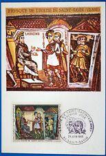 FRESQUES ABBAYE DE SAINT SAVIN   FRANCE CPA Carte Postale Maximum Yt 1588 GF