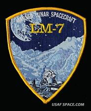 "GRUMMAN LM - 7 APOLLO 13 - LUNAR MODULE AQUARIUS - 4x47/8"" AB EMBLEM SPACE PATCH"