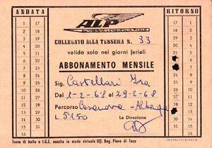 1967 TESSERA AUTOBUS AUTOSERVIZI LENGUEGLIA PAOLO ALBENGA LIGURIA 1-129