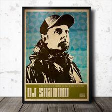 DJ Shadow Hip Hop Art Poster Rap Music Mo Wax