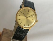 LONGINES MECHANICAL VERY THIN 18K SOLID YELLOW GOLD 32 mm VINTAGE MEN WATCH