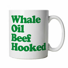 Whale Oil Beef Hooked Funny Mug - Novelty Gift for Him Dad St Patricks Day
