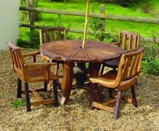 Teak Round Table & Chair Sets with 4 Seats