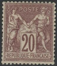 "FRANCE STAMP TIMBRE N° 67 "" TYPE SAGE 20c BRUN LILAS "" NEUF x TTB  K334"