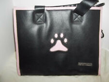 Small Treasures Black and Pink Pet carrier VGC cute style